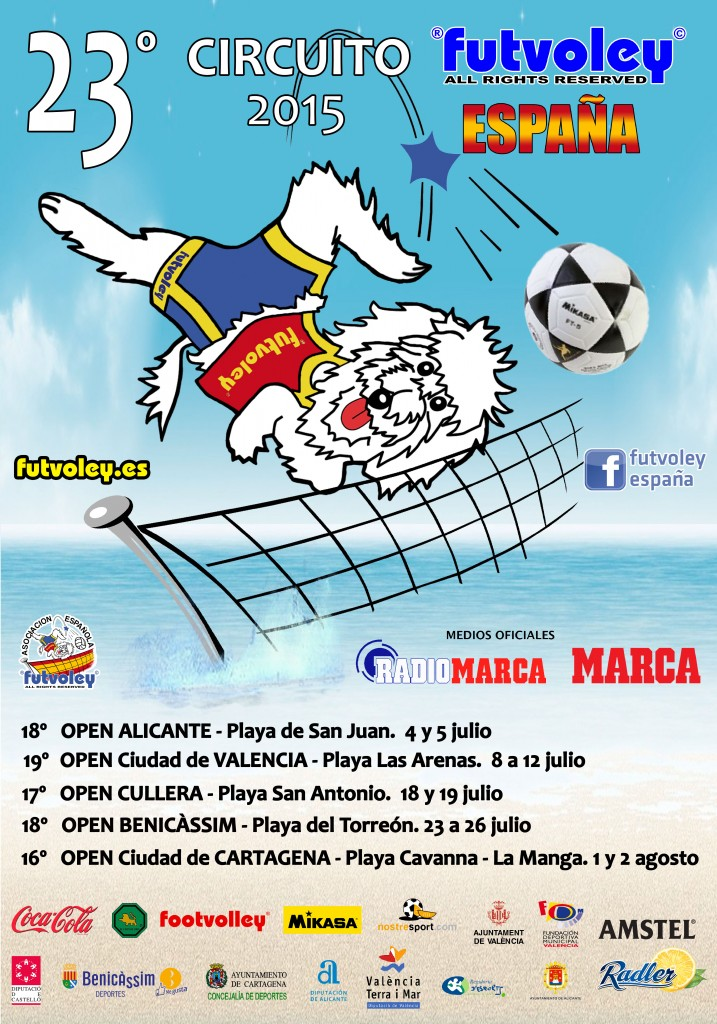 Cartel 23 Circuito Futvoley 2015