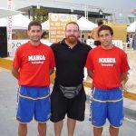Coimbra (PT) 2011 - Alex y Nacho con Marcos Solis