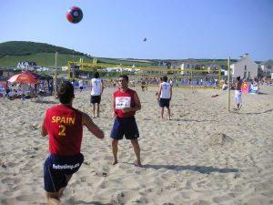Croyde (EN) 2006 - Calentamiento del equipo español