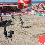 Ataque de cabeza de Bruno (Portugal) en semifinal con Paraguay