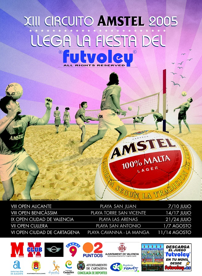 Cartel XIII CIRCUITO AMSTEL Futvoley 2005