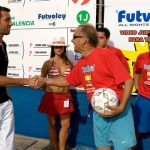 Miguel Hernández y Edu (Jugador del Valencia Club de Fútbol)