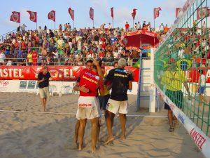 Saludo Final - S. Antolinos _ P. Ortíz (España) - Marcelinho _ Bello (Brasil)